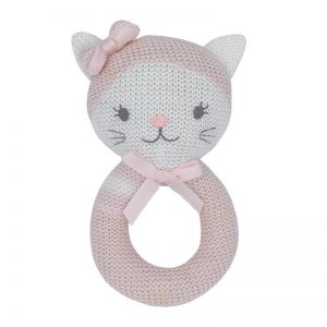 Living Textiles Daisy The Cat Rattle
