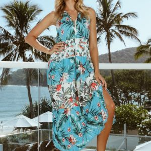 Lulalife Dulcie Maxi dress Ocean
