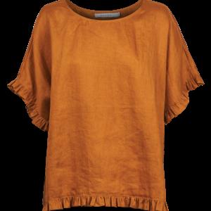 Majorca Frill Top Carame Linen Women's Fashionl