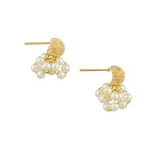 Tiger Tree Mini Cluster Pearl Earring