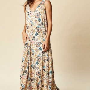eb & ive Ohana Maxi Dress buff botanical East Gosford ladieswear summer