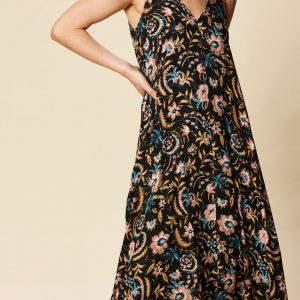 eb & ive Ohana Maxi Dress black botanical East Gosford summer dresses ladieswear