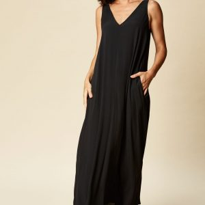 eb & ive Ohana Maxi Dress Sable linen Women/s Fashion