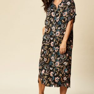 eb & ive botannical shirt dress