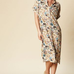eb & ive botanical shirt dress summer