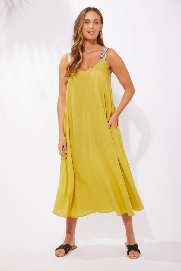Haven Paradise Tank Maxi Lime Women's Fashion