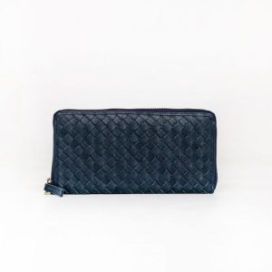 The Scarf Company peggy wallet leather navy