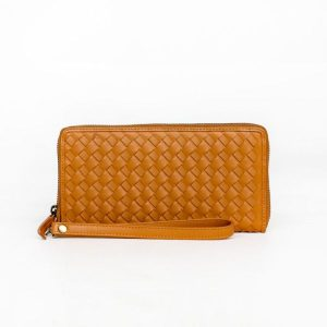 The Scarf Company peggy wallet leather tan