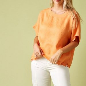Isle of Mine Phoenix Top Melon Linen Women's Fashion