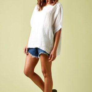 Isle of Mine Phoenix Top Linen Women's Fashion