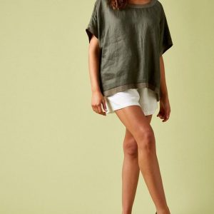 #Isle of Mine #Phoenix Top Khaki #Linen Women's Fashion