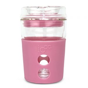 IOco Reusable Glass Travel Mug in Dusty Rose
