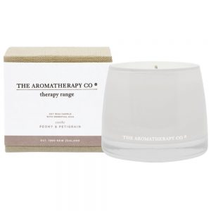 "Peony & Petigrain ""Soothe"" scented candle by The Aromatherapy Co"