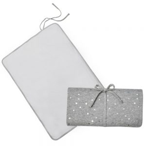 Living Textiles Travel Change Mat Grey Star