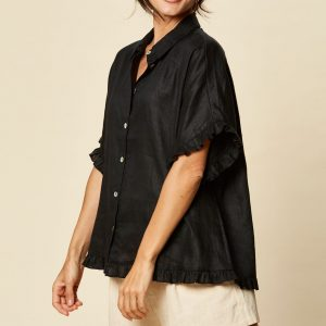 eb & ive Tribu Shirt Sable Linen Women's Fashion