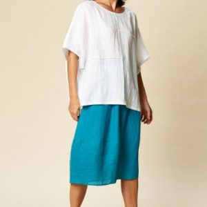 eb & ive Tribu Top Navajo East Gosford white linen tops summer ladieswear