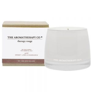 "Sweet Lime & Mandarin ""Uplift"" scented candle by The Aromatherapy Co"