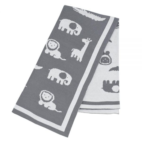 Living Textiles Urban Safari Knitted Blanket Product