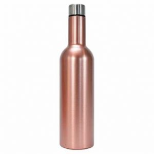 Rose Gold Wine Bottle Double Walled Stainless Steel Annabel Trends