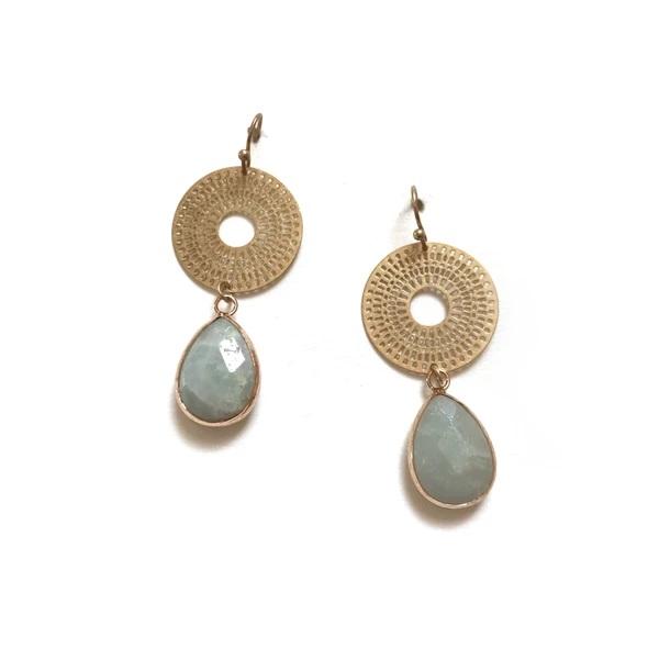 Zoda Katria Earring Green Statement Earrings