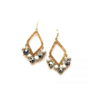 Zoda Tessa Earrings Dalmation Statement Earrings