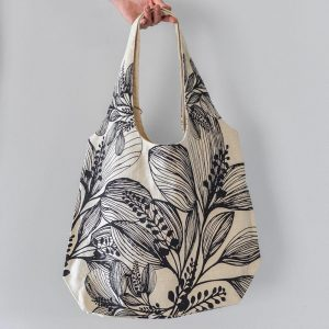 Slub Cotton Shopper Charcoal Bag