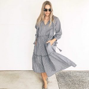 LJC Designs Bellagio Dress Mini Navy Gingham