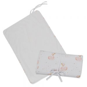 Living Textiles Swan Travelling Change Mat